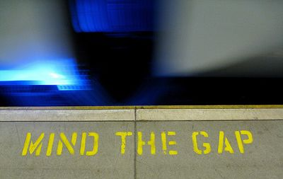 Mind The Gap by limaoscarjuliet via Flickr (Creative Commons)